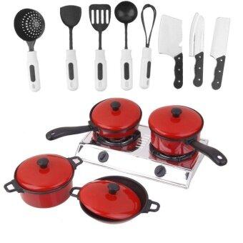 Set Plastic Chef Kitchen Cookware Food Pretend Play Toys for KidsChildren - intl