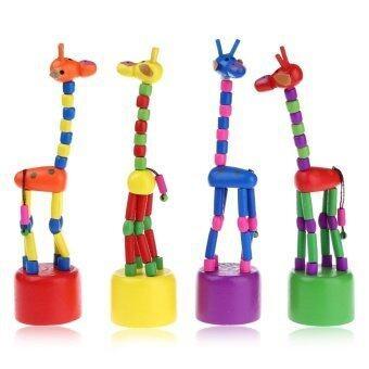 SH Dancing Giraffe Wooden Toy Decoration Cute Toy for Children - intl