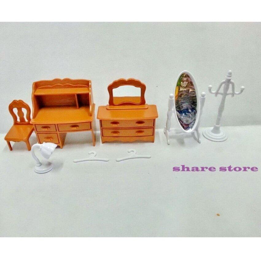 share ชุดอุปกรณ์เสริม โต๊ะเครื่องแป้ง ใช้เล่นกับบ้านหมี บ้านกระต่าย Happy Family