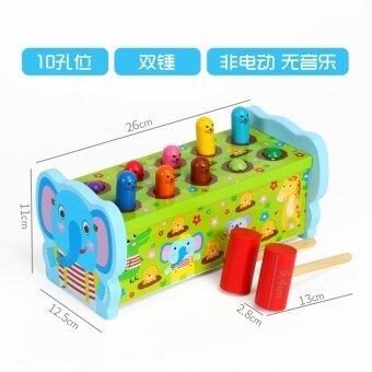 Shuangchui ไม้เล่นหนูแฮมสเตอร์เคาะเกมเครื่องเล่นหนูแฮมสเตอร์