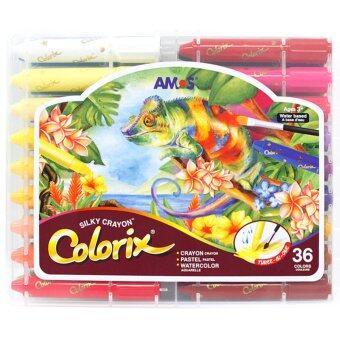 สี Amos Colorix Silky crayon 36สี