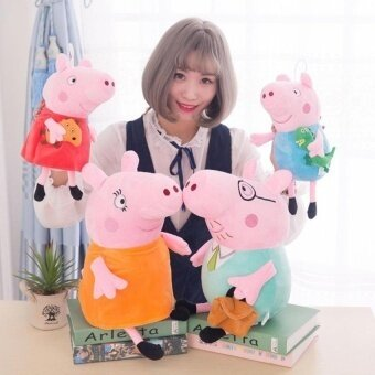 Sister Peppa Pig Plush Toys Stuffed Animal Kids Toys For Childrenbirthday Gifts Party Decor Soft Cotton Meterial - intl