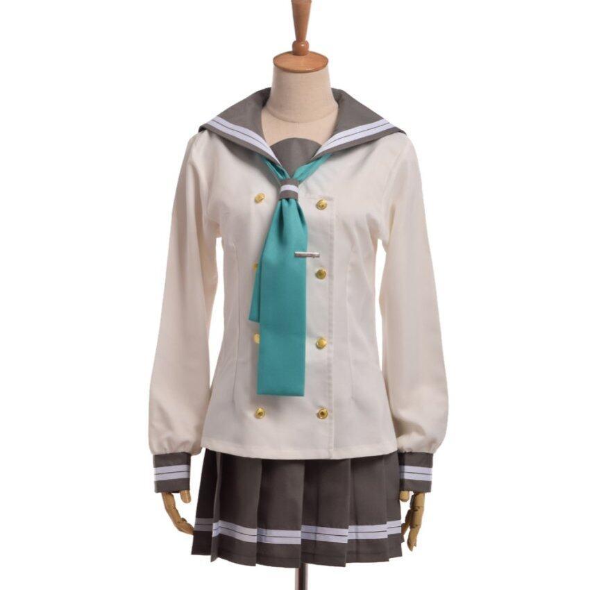 (Size-L) Anime Love Live Sunshine Aqours Girls' JK Uniform Sailor Dress Cosplay Costume - intl