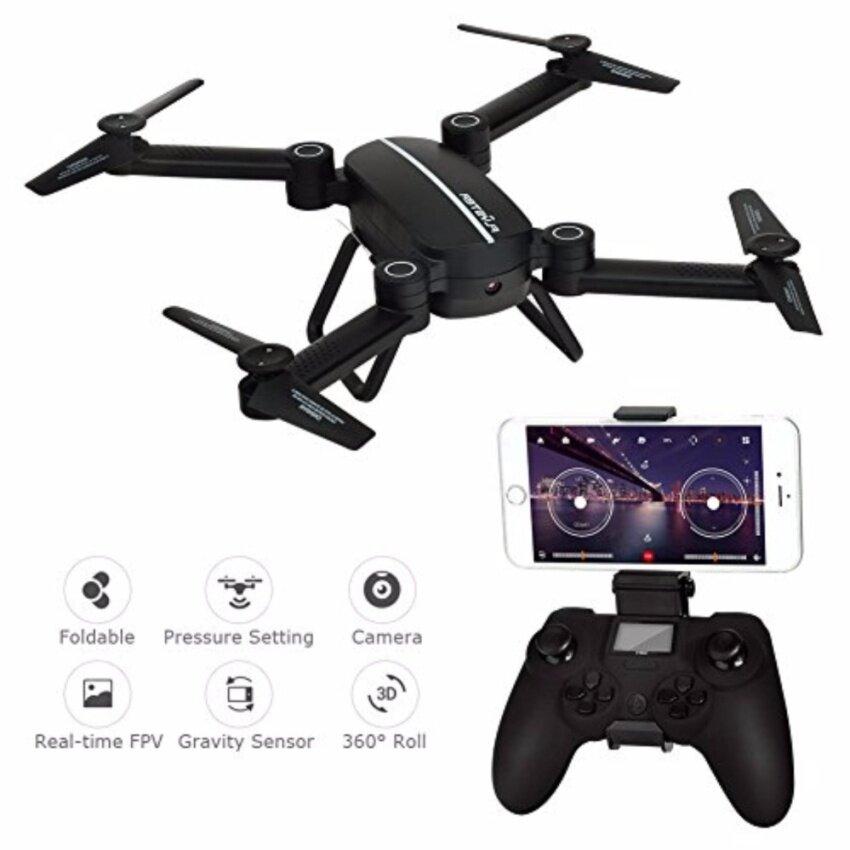 Sky Hunter Foldable Rc Selfie Drone with Wifi FPV  HD Camera Altitude Hold Headless Mode(โดรนพับ ถ่ายรูป แบต 1ก้อน)