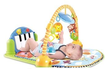 Smartbabyandkid Kick and Play Piano Gym - สีฟ้า