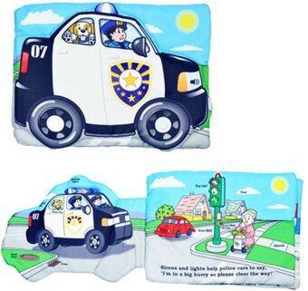 smartbabyandkid หนังสือผ้า Police car light & sound cloth book