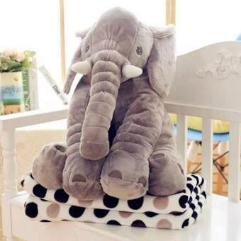 smartbabyandkid ตุ๊กตาช้าง Jelly Elephant ขนาด 60 cm.(สีเทา)รุ่นมีผ้าห่ม