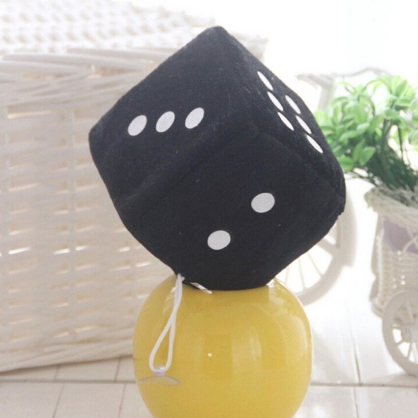 Soft Dice Plush Toy Kids Activity Games Props Creative Party Toy Black 6cm - intl
