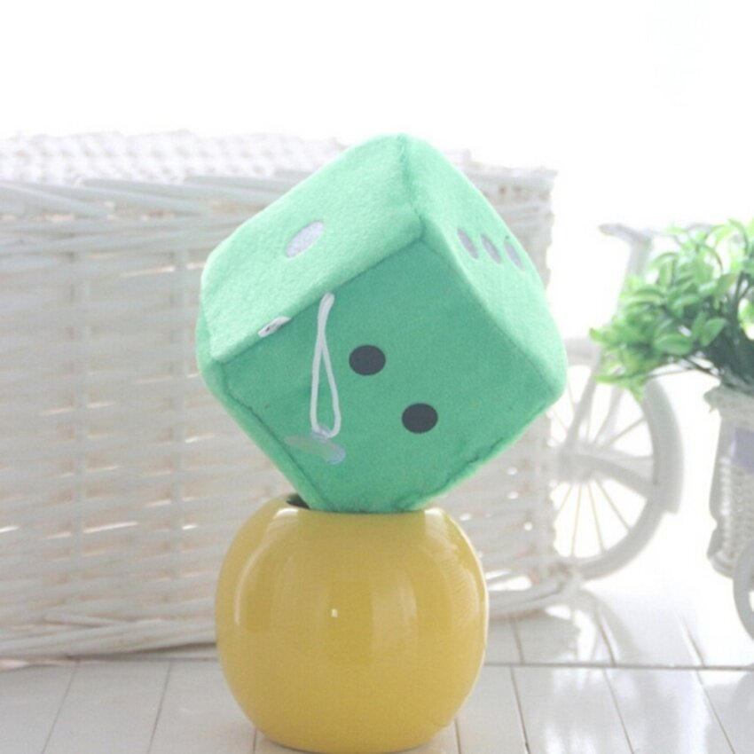 Soft Dice Plush Toy Kids Activity Games Props Creative Party Toy Green 10cm - intl