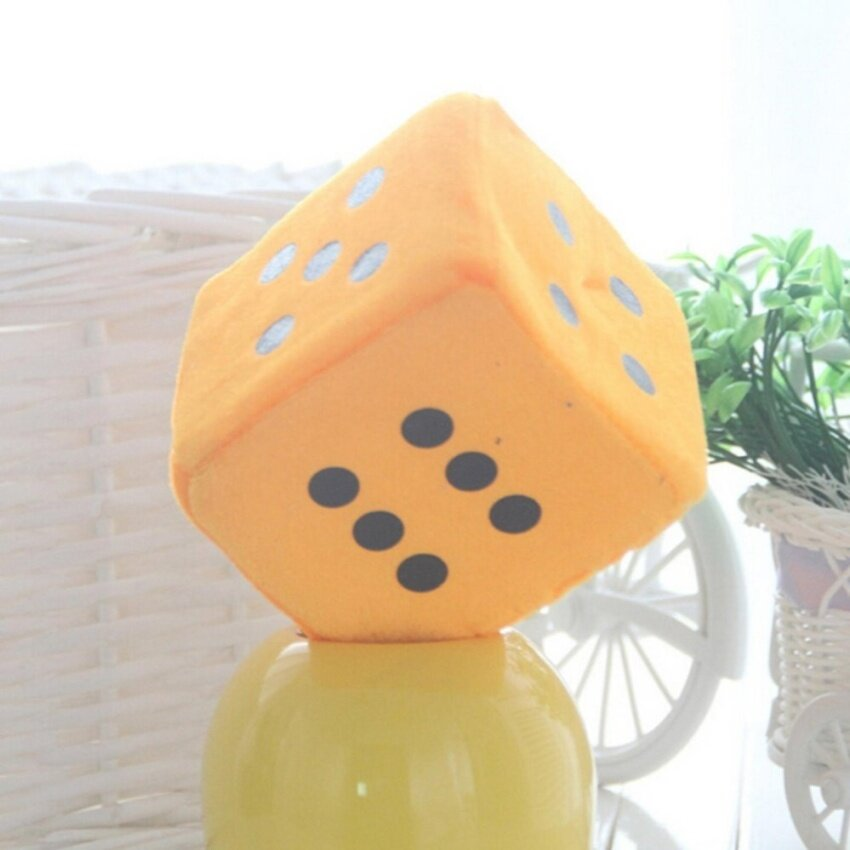 Soft Dice Plush Toy Kids Activity Games Props Creative Party Toy Orange 10cm - intl