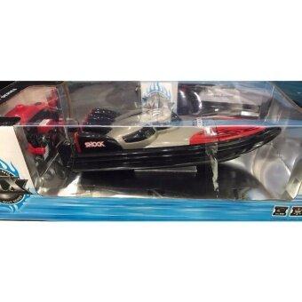 เรือสปีดโบ๊ต Speed Boat รุ่น 2 มอเตอร์ รีโมทบังคับวิทยุ เปลี่ยนคลื่นน้ำได้ 3 แบบ สวยมาก (Model 002)