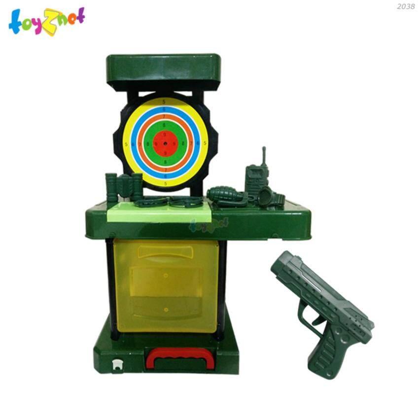 STL ชุดกระเป๋าโต๊ะเป้ายิงปืนทหาร (ไฟ-เสียง) รุ่น 2038