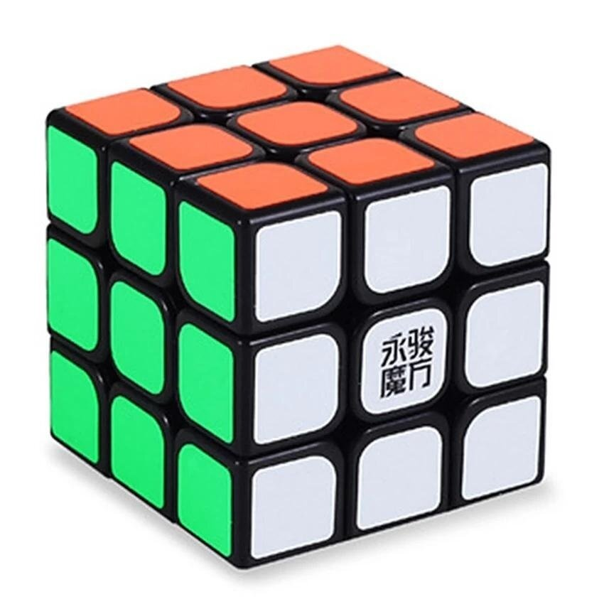 [Stock YJ] Speed Dragon Professional Rdy Rubik Cube Smooth Puzzle 3x3 -Black - intl image