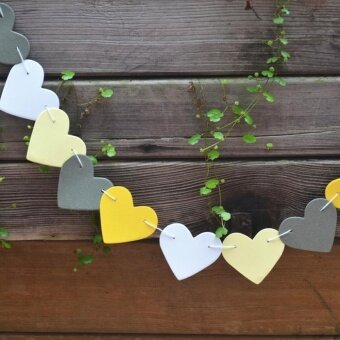 Sunshop 1m Heart Paper Garland Banner Bunting Drop Wedding PartyHome Decor (9) - intl