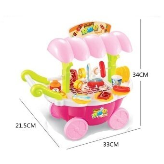 Super Fun Kids Carry Barbecue Grill Playset - intl
