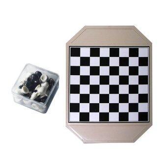 หมากรุกไทย พลาสติก (สีขาว-ดำ) พร้อมกระดานพลาสติก เกมส์หมากรุกเกมกระดาน Thai Chess