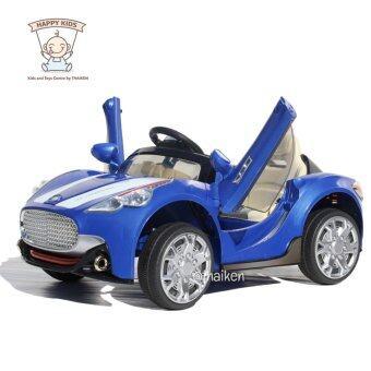 Thaiken รถเก๋งเด็กไฟฟ้า สปอร์ต 2 มอเตอร์ เปิดประตูปีกนก (สีน้ำเงิน) 108