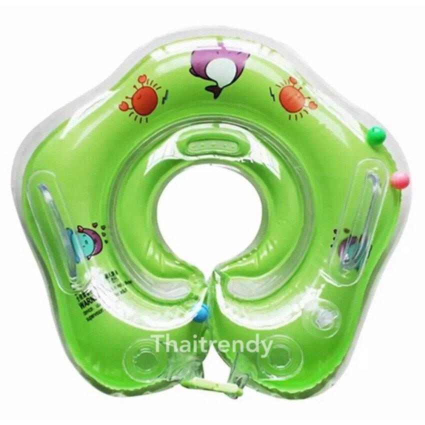 ThaiTrendy ห่วงยางสวมคอเด็กทารก สีเขียว