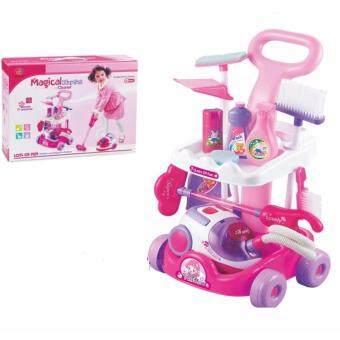 Thaitrendy ของเล่นเด็ก อุปกรณ์ทำความสะอาด ชุดรถเข็นทำความสะอาดบ้าน
