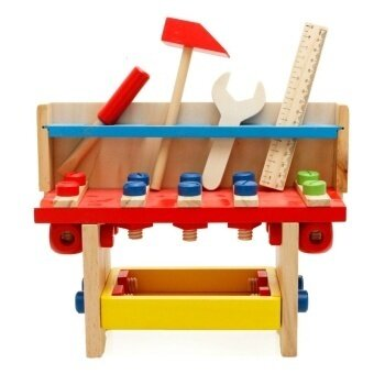 The Puzzle Of Children's Wooden Tools Of Assembling And Disassembling Nut Combination Educational Toys - intl