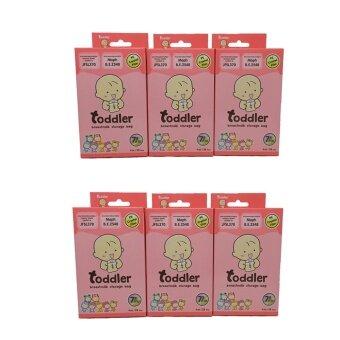 Toddler ถุงเก็บน้ำนมแม่ 7 สี 7 ลาย (4 Oz/6 กล่อง)