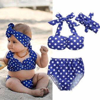 Toddler Summer Kids Baby Girls Bikini Swimwear Set Swimsuit BathingSuit - intl