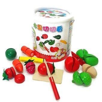 Todds & Kids Toys ของเล่นเสริมพัฒนาการ ของเล่นชุดหั่นผักผลไม้ในถัง