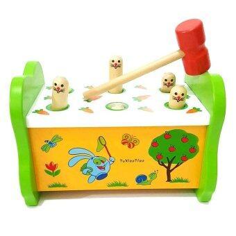 Todds & Kids Toys ของเล่นไม้ กระต่ายทุบฝึกกล้ามเนื้อมือเเละสายตา (image 0)