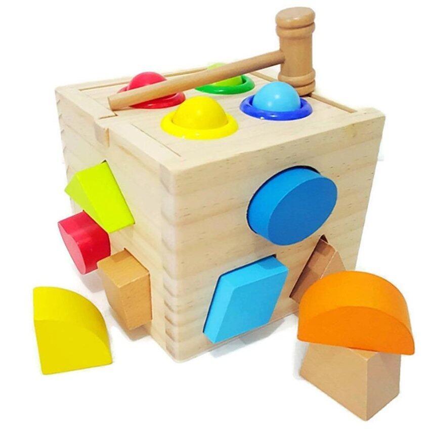 Todds & Kids Toys บล็อกไม้ รูปทรงต่างๆ ฝึกสมอง ฟรี จิ๊กซอว์ไม้ขนาด 15x15cm. 1 เเผ่น