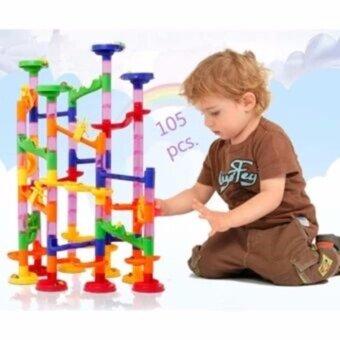 ToddsKids Toys MARBLE RACE รางลูกแก้วหรรษา แบบประกอบเองตามจินตนาการ รุ่น105 pcs.