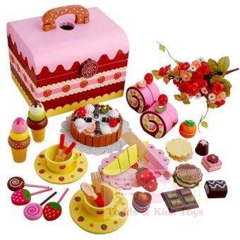 ToddsKids Toys ชุดกล่องขนมสตรอเบอร์รี่ช็อคโกแลตปาร์ตี้ (Mother Garden Strawberry Chocolate Party - Carrying Case)