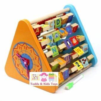Todds Kids Toys ของเล่นไม้เสริมพัฒนาการ ชุดสามเหลี่ยมกิจกรรม5 in 1