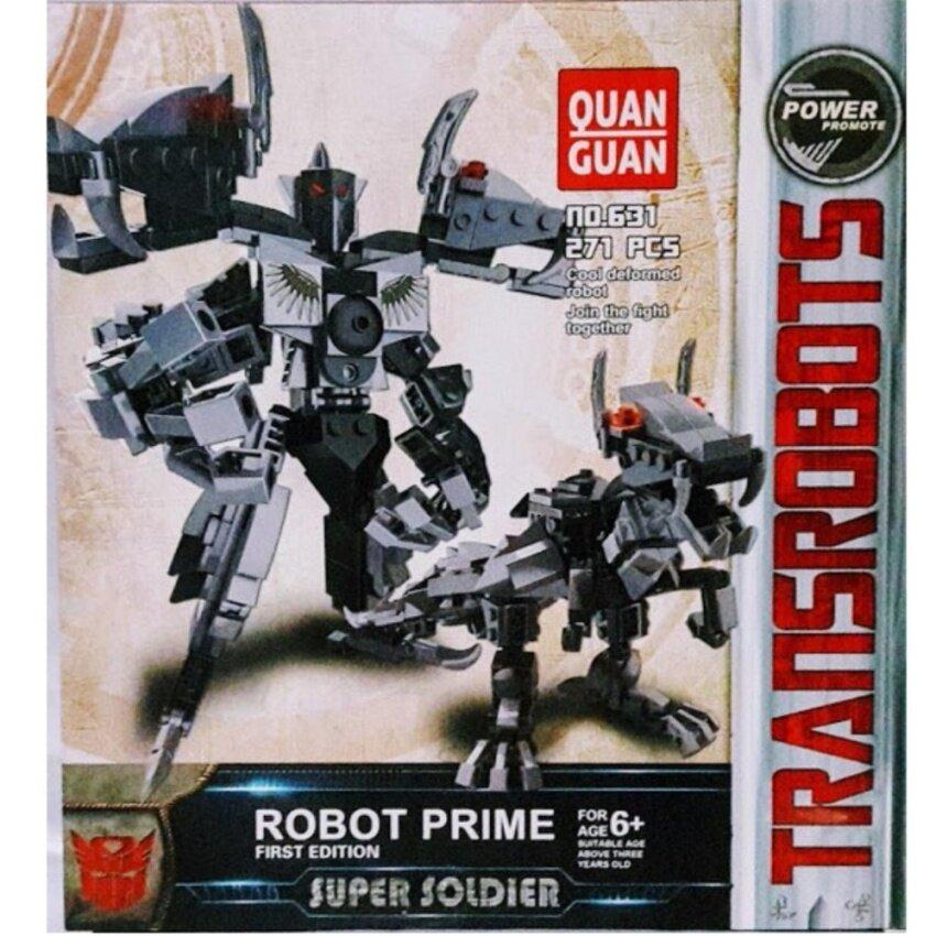 Tontoysตัวต่อเลโก้หุ่นยนต์แปรงร่างไดโนเสารNo631(271ชิ้น)