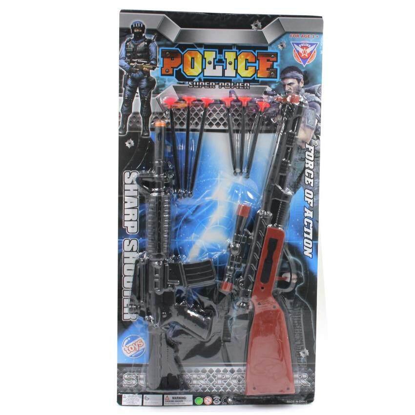 Toon World ปืน 2 กระบอกแผง Action Gun 2 Pcs