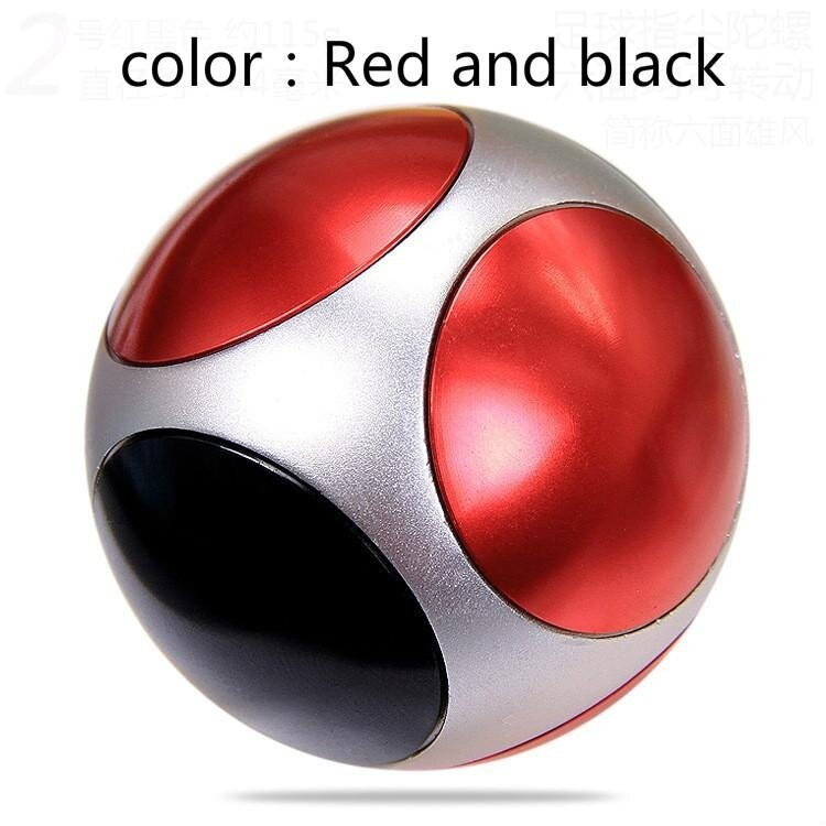 Toys Classic Spinning Top Fingertip gyroscope Football Hand Spinner Mini Sports Round Polyhedron Gyroscope - intl