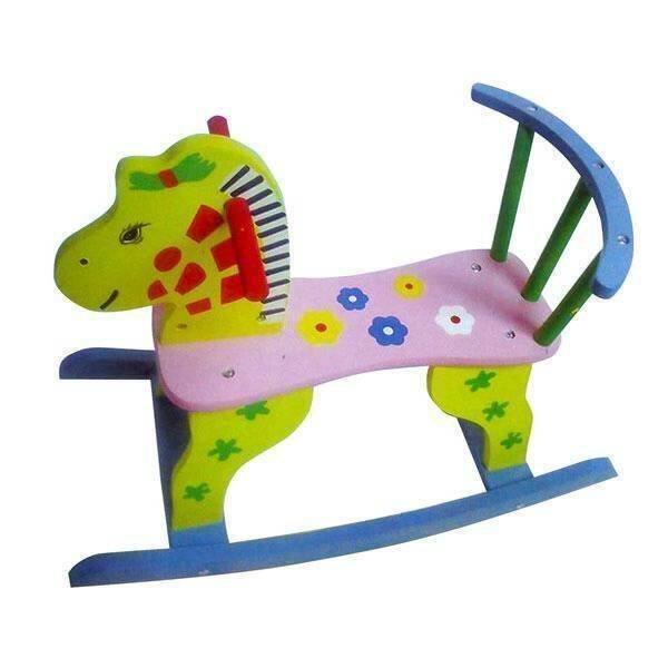 Toysplus ม้าโยกไม้ (สีเขียว)