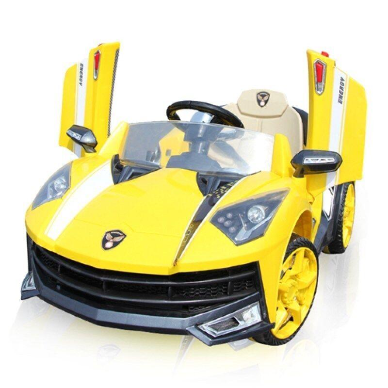 Toyzoner รถแบตเตอรี่เด็กนั่ง แลมโบกินี่ LN6168ABS ล้อยาง MP3 USB - สีเหลือง
