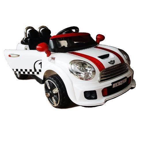 Toyzoner New Mini Cooper รถแบตเตอรี่เด็กนั่งไฟฟ้า 2 มอเตอร์ รุ่นมีไฟกระโปรงหน้ารถ USB