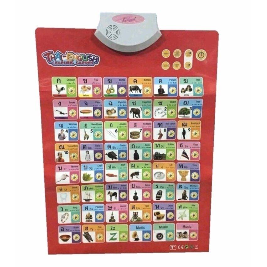 T.P. TOYS ของเล่นเด็กเล็ก  แผ่นเรียนรู้ 2 ภาาษา ไทย-อังกฤษ