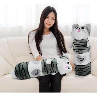 ตุ๊กตาหมอนข้างแมว chi ขนาดเล็ก สีขาวเทา แพ็ค2ตัว