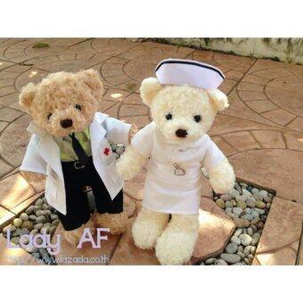 ตุ๊กตาหมี หมอ และ พยาบาล Teddy ขนาด 14 นิ้ว แพ็คคู่