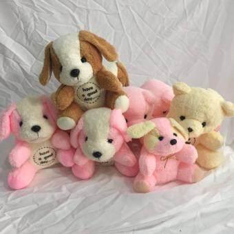 ตุ๊กตาหมีน้อยและสุนัขคละแบบ 10 ตัวใส่ถุงแก้วสวยงาม