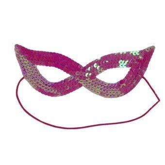 Unisex Halloween Costume Masquerade Masks Half Face Maskwithsequins(Rosy) - intl