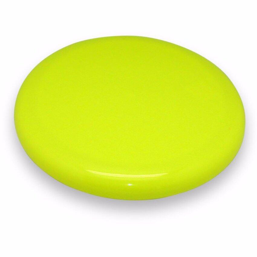 UNT อุปกรณ์กีฬาและเกมส์กลางแจ้ง จานร่อนสีสะท้อนแสงเซ็ท 1 ชิ้น สีเหลืองสะท้อนแสง image