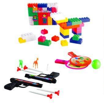 UNT ของเด็กเล่นจัดชุด Children Toy ไม้ปิงปอง+ปืนและสัตว์+ตัวต่อ
