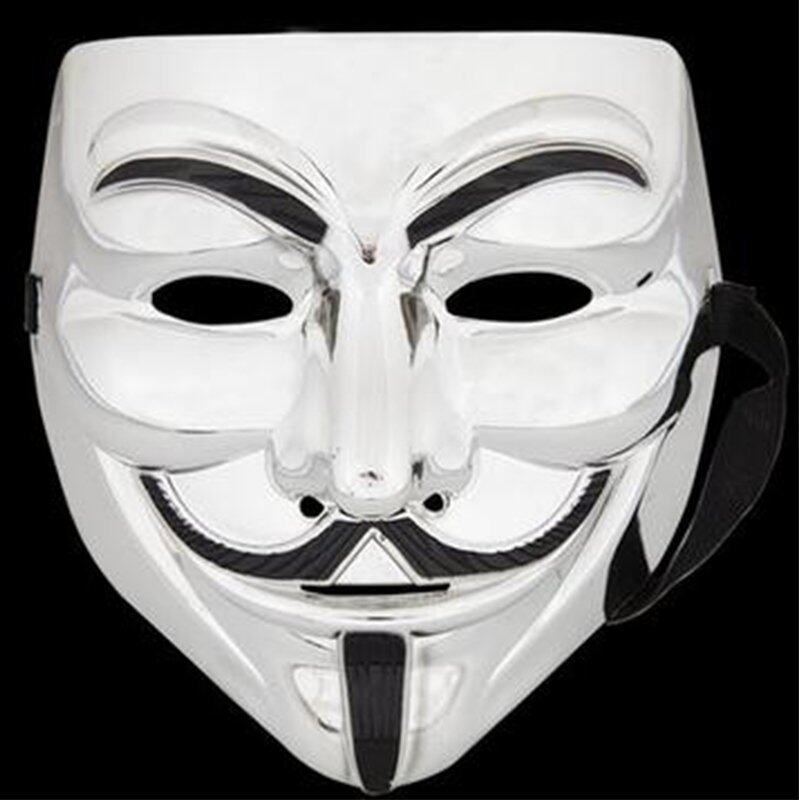 V Face Mask for Vendetta Mask Film Guy Fawkes Fancy Cosplay Anonymous Halloween Masks Fancy Dress Costume image