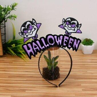 VORSTEK Halloween Hair hoop pumpkin Witch hair Hoop - E - intl