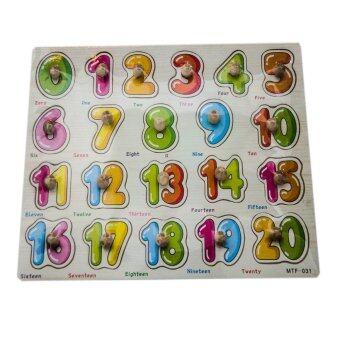 VRTOYS2U กระดานหมุดสอนนับเลข1-20พร้อมคำศัพท์