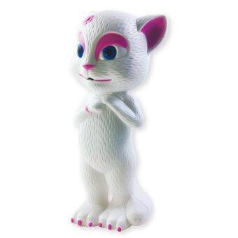 wipapha ของเล่นเด็ก แมวสาวพูดได้ 2 ภาษา เล่านิทาน ร้องเพลงได้ (สีขาว)