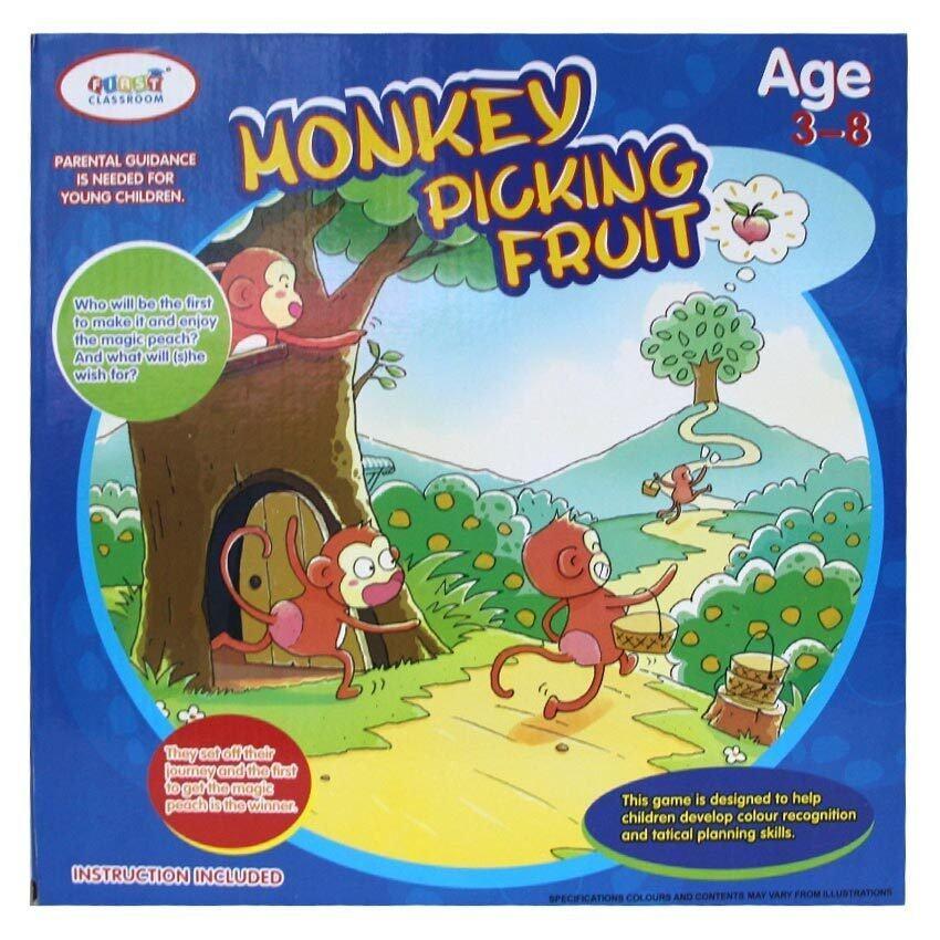 Wisher Toys MONKEY PICKING FRUIT เกมส์กล่องขึ้นเขาชิงลูกพีชวิเศษ รุ่น HM1651